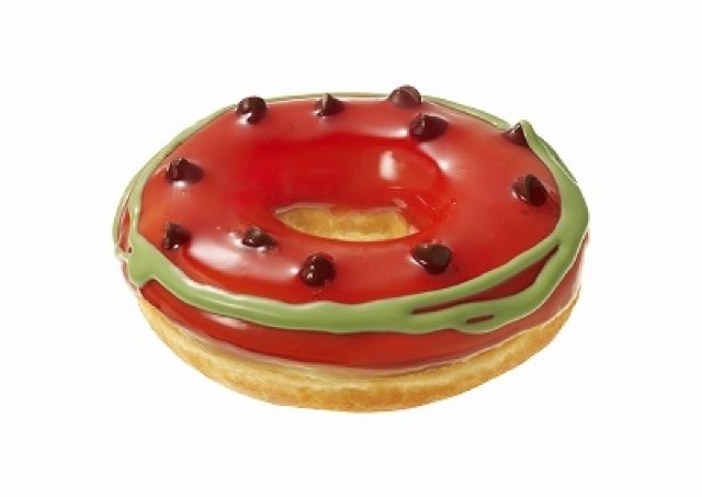 これはスイカ輪切りですか......? クリスピーのビジュアル系ドーナツがすごい