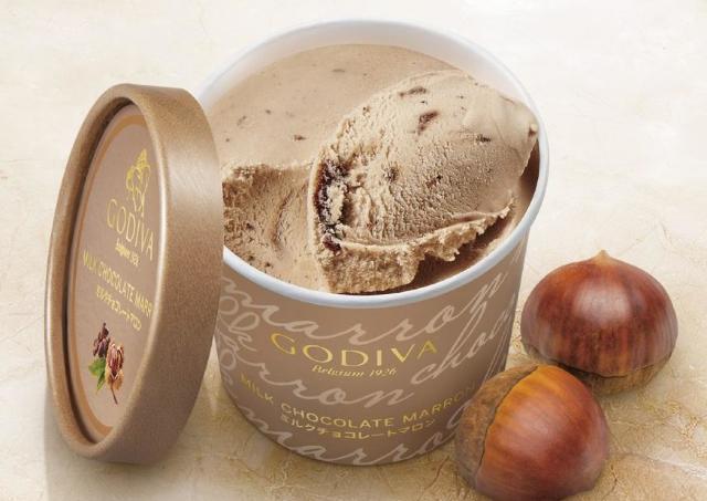 ゴディバから新作アイス「ミルクチョコレート マロン」 セブン-イレブン先行発売
