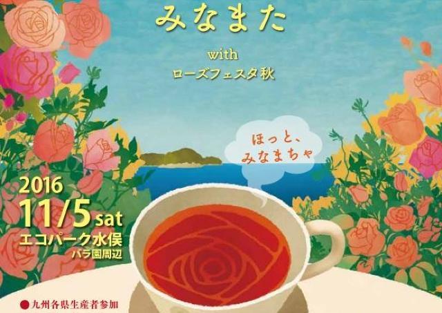バラと一緒に楽しむティータイム 九州各県の和紅茶を飲み比べ