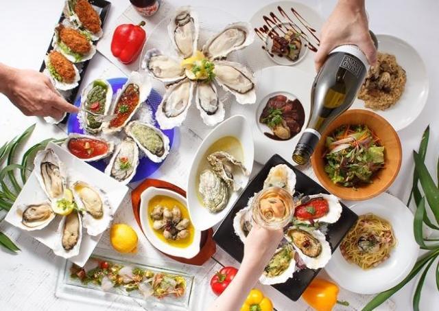 生牡蠣、カキフライ...30品が食べ放題! 牡蠣を食べ尽くすテーブルバイキング