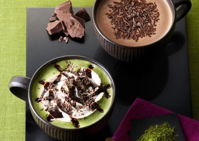 タリーズから和洋折衷な抹茶×チョコドリンク 「チョコレート&抹茶モカ」