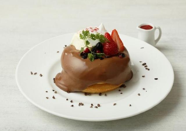 くちどけショコラムースがたまんない! ビブリオテークのバレンタインパンケーキ