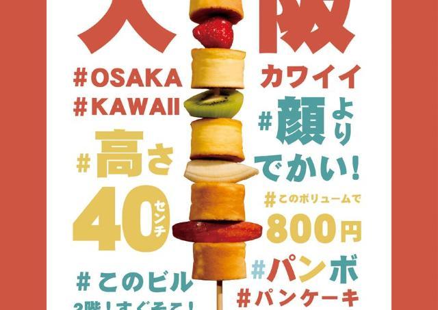 なんじゃこりゃ!? 「串カツ」みたいな顔より大きいパンケーキ