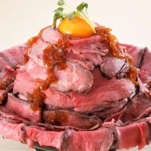 肉が溢れ出す幸せ...! 秋葉原に1ポンドの「メガローストビーフ丼」