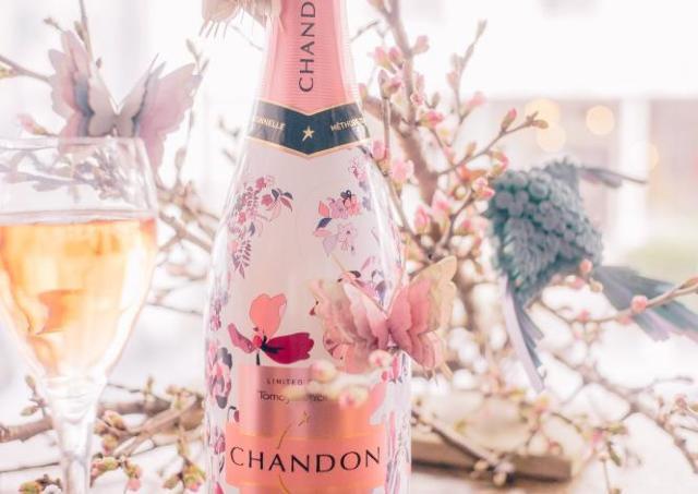 プロジェクションマッピングで魅せる都会の桜! 「お花見CHANDON 2017」