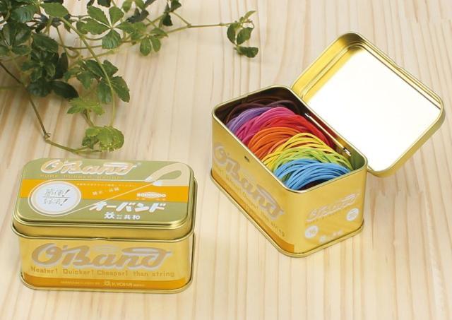 輪ゴムの「オーバンド」から輝くゴールド缶! きょうは何色にしようかな?