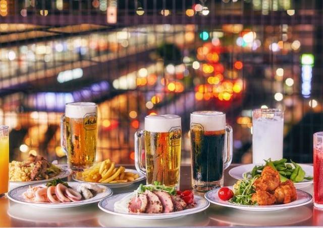 京都駅から徒歩2分!人気料理&工場直送生ビールを堪能