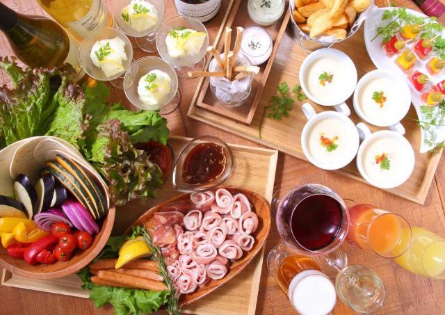 近江野菜をたっぷり使用 「美と健康」を意識したBBQビアテラス