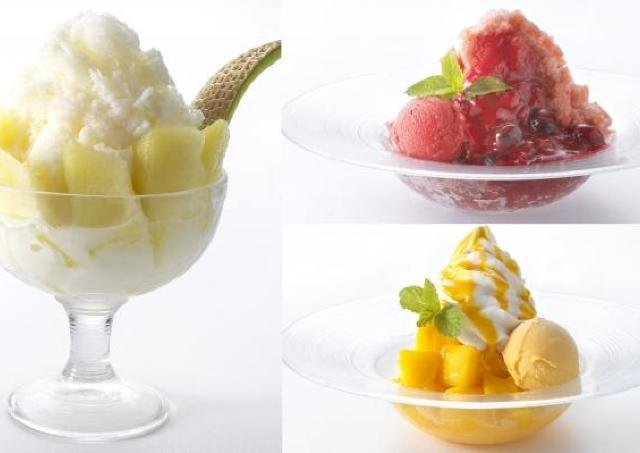 フワッフワに削られた氷と贅沢果実 リーガロイヤルホテルにかき氷3種