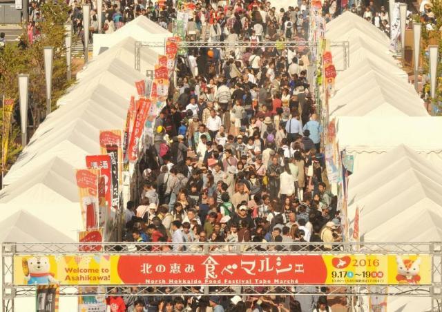 旭川の中心地に巨大マルシェ出現! 「北の恵み 食べマルシェ」開催