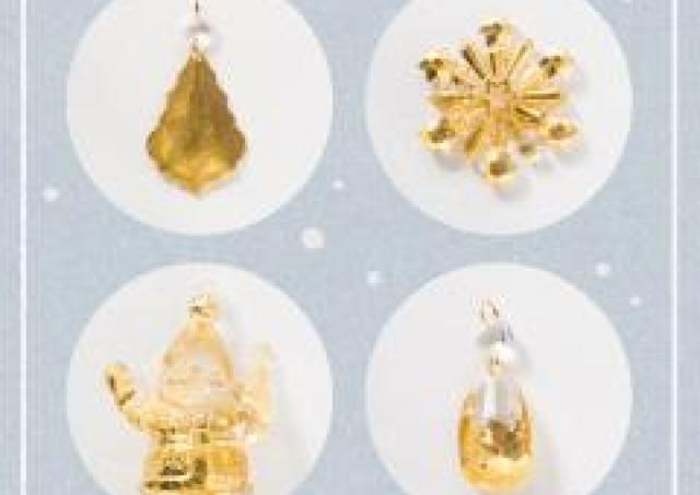 美しい金箔の輝き 自分だけのクリスマスオーナメントを飾ろう!