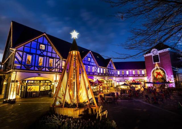 ドイツの古城の雰囲気で夜景を満喫「古城のクリスマス2017」ナイター営業開始