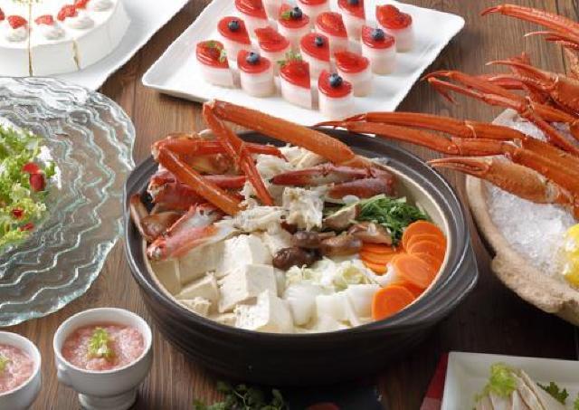 冬の味覚満載の贅沢ビュッフェ 「蟹といちごの紅福ビュッフェ」開催