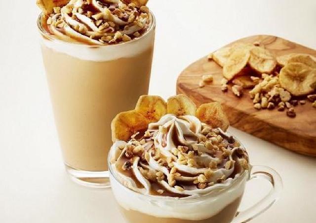タリーズ新作は「バナナッツソイラテ」 ホイップまで豆乳だって。