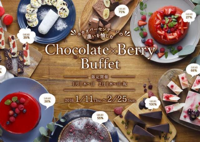 カカオを楽しむ「Chocolate×Berry Buffet」 京都タワーホテルで開催