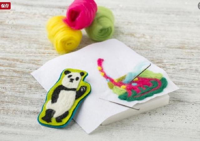 羊毛フェルトでかわいいパンダや恐竜ブローチを作ろう!