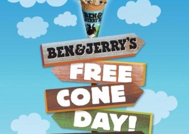アイス無料でもらえる! ベン&ジェリーズで「フリーコーンデー」