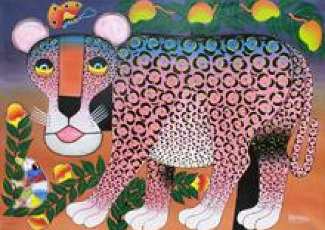 サバンナの動物たちや豊かな自然が色鮮やか 「ティンガティンガ原画展」開催