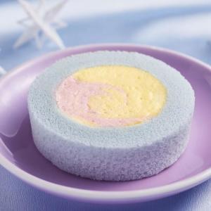 【めっちゃいい...】ローソンが「ゆめかわ」なロールケーキ発売。
