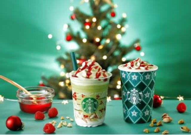 スターバックスに「クリスマスツリー」のような季節限定ドリンク。