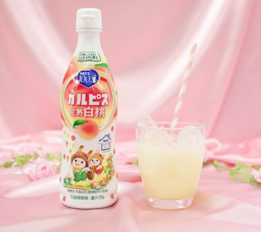 ピーチ好きなみなさん〜。 カルピスからかわいい「完熟白桃」出たよ〜!