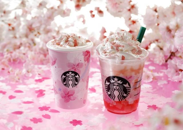 今年も待ってた。 スタバのSAKURAシリーズ、ピンク色がかわいすぎ。
