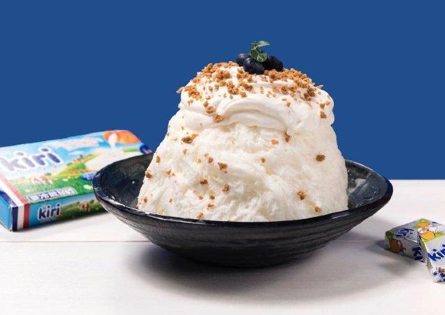 「キリ」コラボ「クリームチーズケーキかき氷」大阪に初登場。