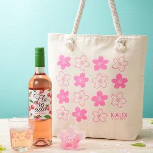 カルディに「さくらバッグ」登場 温度で色づく桜グラスも入ってるよ~!