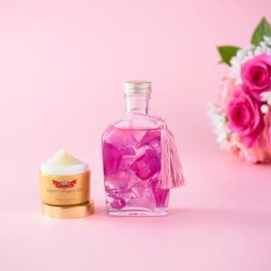 【プレゼント】「母の日フラワーギフト」ハーバリウム(ピンクカクテル)+アクアコラーゲンゲル エンリッチリフトEXのセット(3名様)