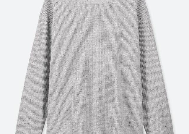 ユニクロ「神トップス」が長袖で登場。ワッフルのさりげないおしゃれ感が素敵。