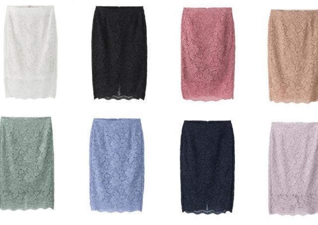 「高見え」「色味が綺麗」 春カラー満載のGU「レースタイトスカート」は買い!