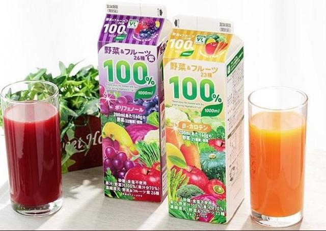 ローソン100に感謝。「野菜&果物」100%ドリンクが1リットル100円で買えるよ~。