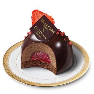 ローソン×ゴディバ イチゴとチョコのドームケーキが美しすぎて...。