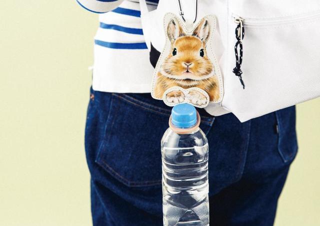 ウサギさんがピョコ。可愛すぎるペットボトルホルダー見つけた。