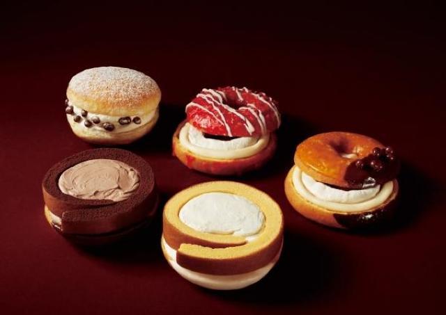 魅惑のクリームたっぷり。 「ミスド×堂島ロール」贅沢ドーナツ誕生。