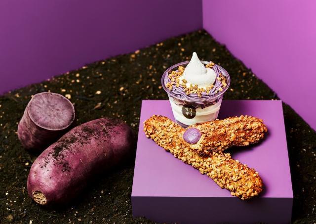 これは期待してしまう。「ザクザク」シュークリームに「紫芋」が登場するよ。