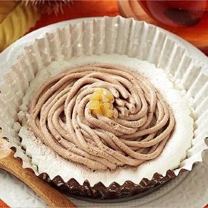 100円で「和栗のモンブランケーキ」買える幸せ。 ローソン100の秋スイーツ豊作だよ~。