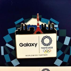 【プレゼント】Galaxyオリジナル 東京2020オリンピックのピンバッジ(15名様)
