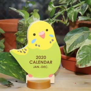 なにこの可愛さ...。 100円の小鳥カレンダー買わずにいられない。