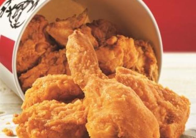 10月の水曜はケンタ行こ! チキンもポテトもお得になるって~。
