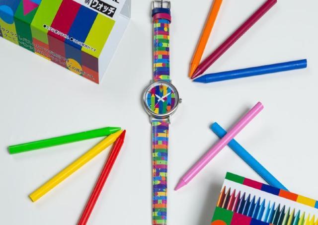バンドまで全部クーピー柄! サクラクレパスの限定時計、可愛すぎない?
