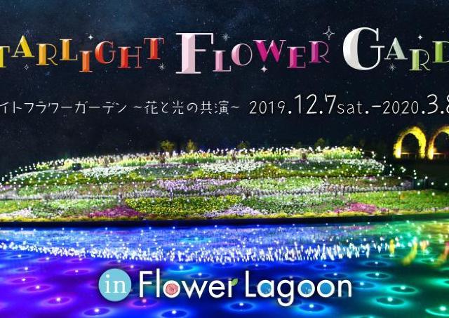 花と光の優雅な共演!ラグーナテンボス「STARLIGHT FLOWER GARDEN」