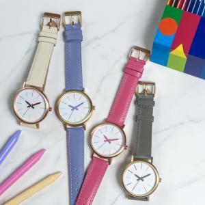 オン・オフ問わず使える大人可愛さ。 クーピー腕時計の新色、パケ買いしてしまいそう。