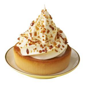 バスク風チーズケーキまたまた進化。 ミニストップがソフトクリーム乗せちゃった...!