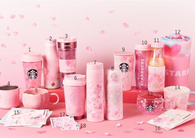 スタバのさくらグッズ、今年も可愛すぎ! 桜カード、マグカップは絶対チェックね。