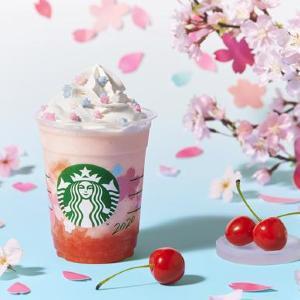 ピンクのコントラストが美しい! スタバ新ビバレッジは「さくらんぼ」が主役