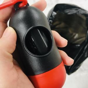 外出先のちょっとしたゴミ処理に! 100均の「携帯ゴミ袋ケース」便利だよ。