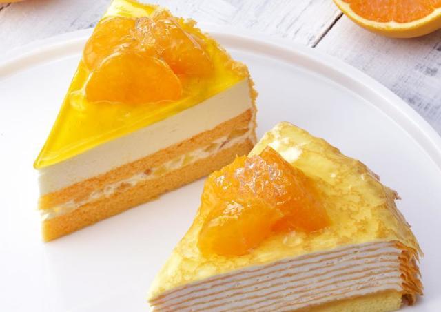 kiriクリームチーズ×柑橘の贅沢な味。 限定のミルクレープが美味しそう。