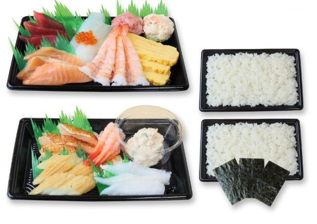 くら寿司の人気ネタでレッツ手巻寿司! 期間限定のお持ち帰りセットだよ~。