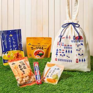 カルディすてき! 北海道グルメぎゅっと詰め込んだ「巾着バッグ」数量限定だよ。